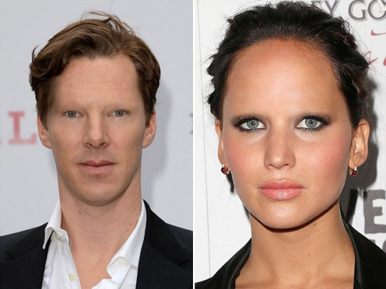 Benedict Cumberbatch and Jennifer Lawrence