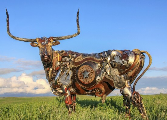 Bits of Scrap Metal Welded Together Into Powerful Sculptures 001