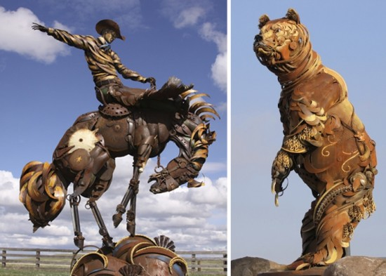 Bits of Scrap Metal Welded Together Into Powerful Sculptures 005