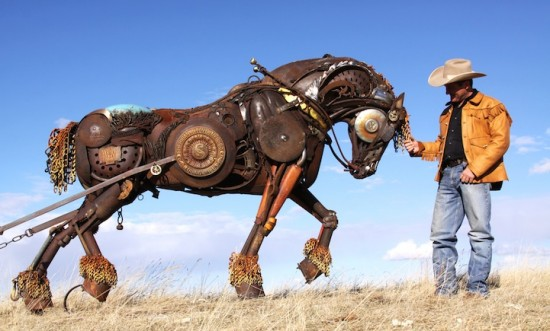 Bits of Scrap Metal Welded Together Into Powerful Sculptures 006