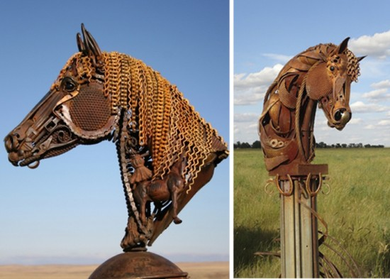 Bits of Scrap Metal Welded Together Into Powerful Sculptures 010
