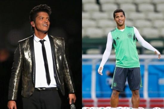 Bruno Mars and Giovani Dos Santos