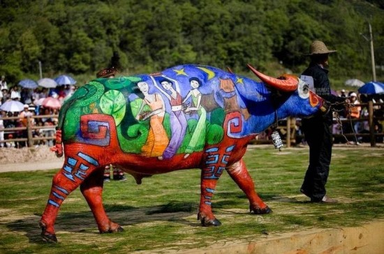 Buffalo Bodypainting Competition in China 001