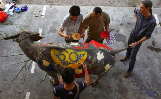 Buffalo Bodypainting Competition in China 005
