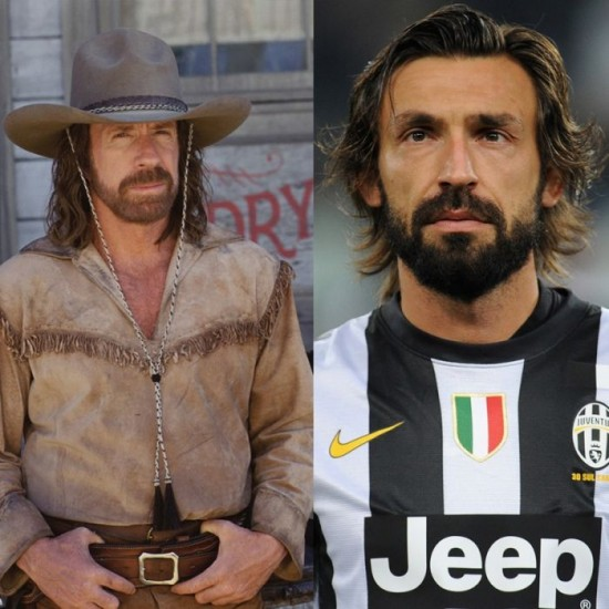 Chuck Norris and Andrea Pirlo