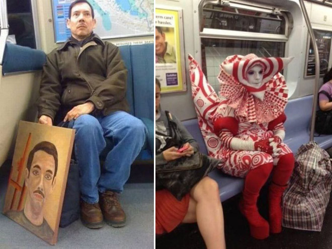 Crazy Stuff Spotted on the Subway 002