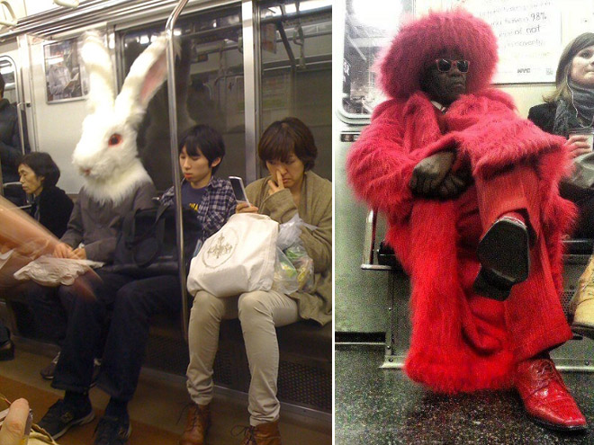 Crazy Stuff Spotted on the Subway 003