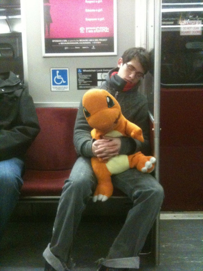 Crazy Stuff Spotted on the Subway 004