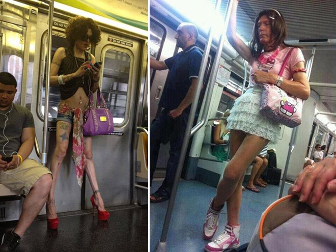 Crazy Stuff Spotted on the Subway 012