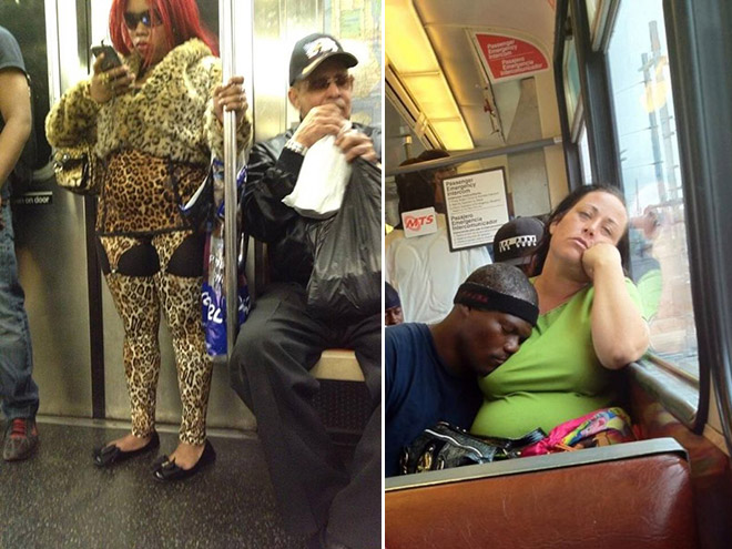 Crazy Stuff Spotted on the Subway 013