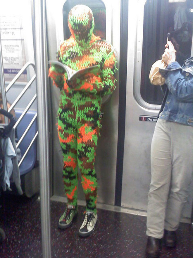 Crazy Stuff Spotted on the Subway 014