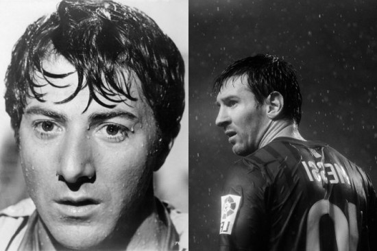 Dustin Hoffman and Lionel Messi