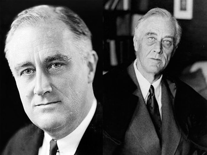 Franklin D. Roosevelt Before (1933) and After (1945)