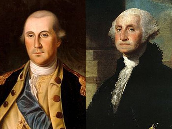 George Washington Before (1776) and After (1797)