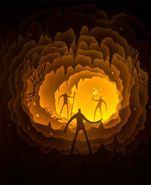 Illuminated Cut Paper Light Boxes By Hari And Deepti 001