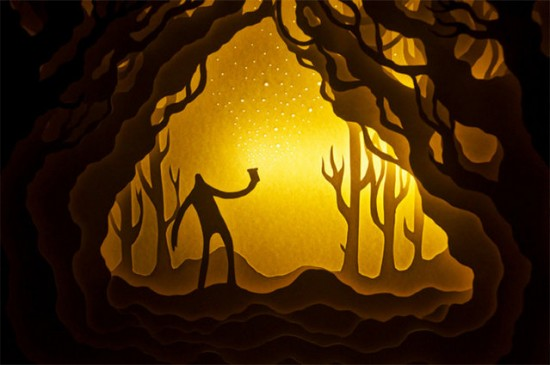 Illuminated Cut Paper Light Boxes By Hari And Deepti 003