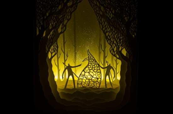 Illuminated Cut Paper Light Boxes By Hari And Deepti 006
