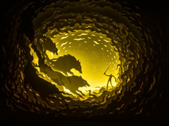 Illuminated Cut Paper Light Boxes By Hari And Deepti 007