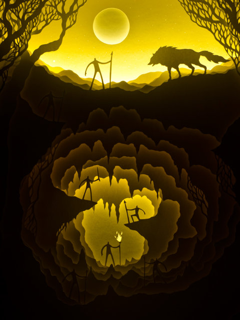 Illuminated Cut Paper Light Boxes By Hari And Deepti 010