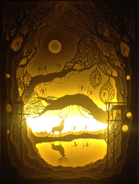 Illuminated Cut Paper Light Boxes By Hari And Deepti 013