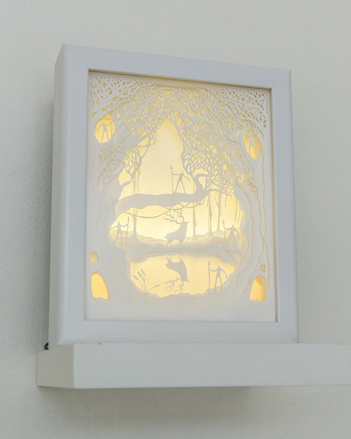 Illuminated Cut Paper Light Boxes By Hari And Deepti 014
