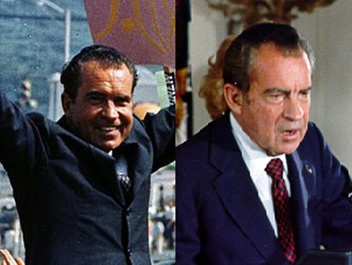 Richard Nixon Before (1968) and After (1974)