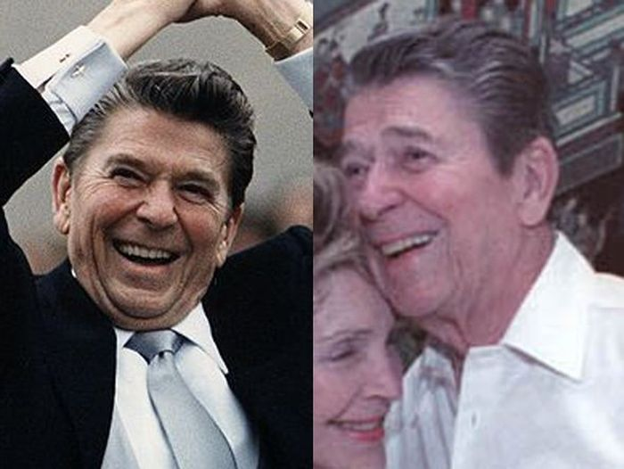 Ronald Reagan Before (1981) and After (1988)