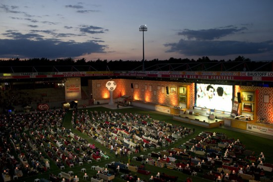 Stadium in Berlin Gets Turned Into Giant Living Room with 750 Couches and 700″ TV 001