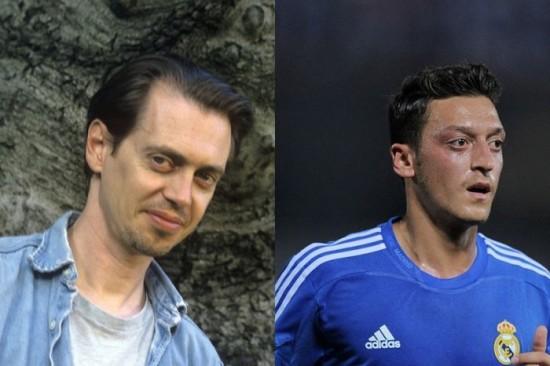 Steve Buscemi and Mesut Ozil