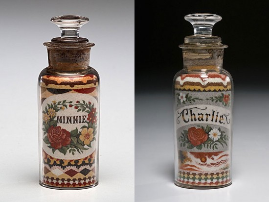 These Were Handmade in the 1800s by Layering Sand. No Glue was Used 004