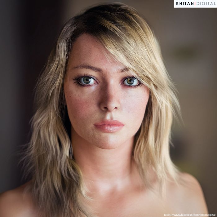These pictures are realistic 3D renderings of real people 001