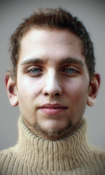These pictures are realistic 3D renderings of real people 011