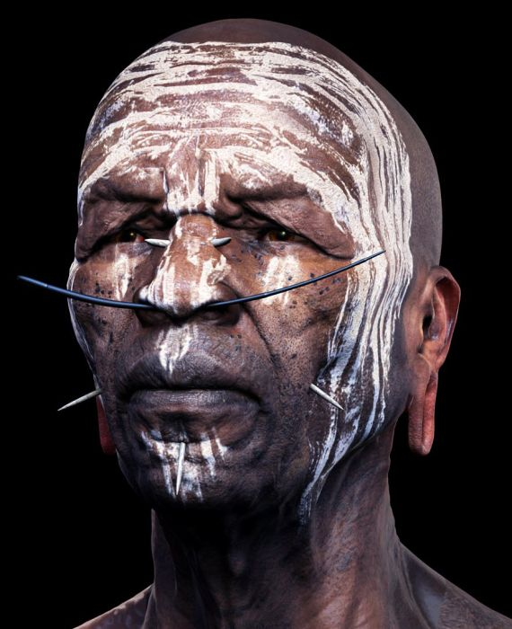 These pictures are realistic 3D renderings of real people 024