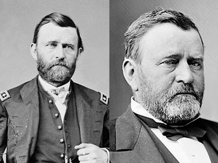 Ulysses S. Grant Before (1865) and After (1879)