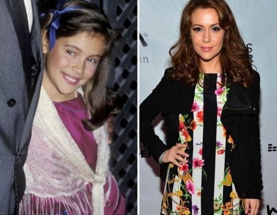 Alyssa Milano – 1984 and now