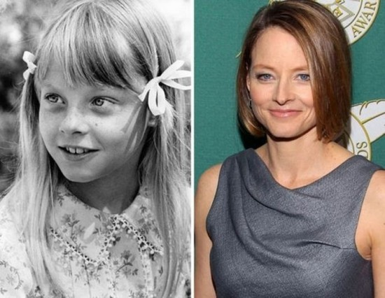 Jodie Foster – 1973 and now