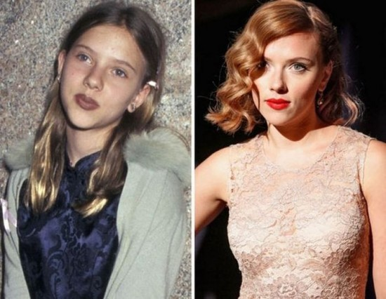 Scarlett Johansson – 1996 and now