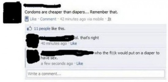 The Dumbest People Comment On Facebook 003
