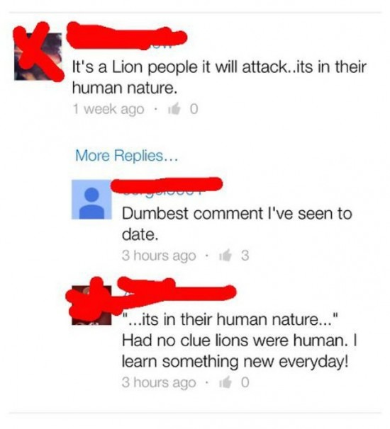 The Dumbest People Comment On Facebook 013