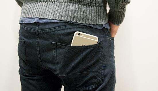 iphone in back pocket