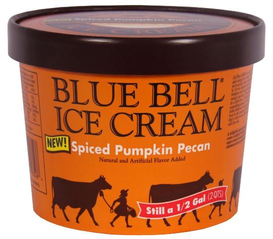 Blue Bell pumpkin ice cream