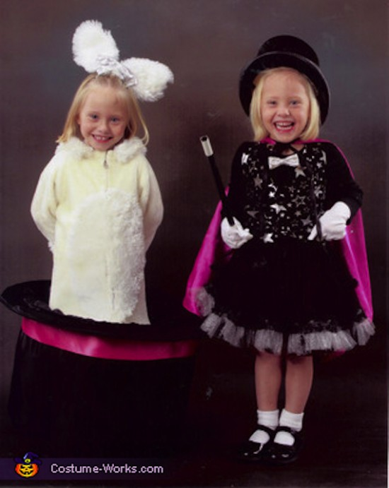 Magician and Rabbit-In-A-Hat halloween costume for kids