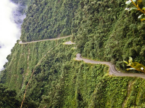 The North Yungas Road in Bolivia