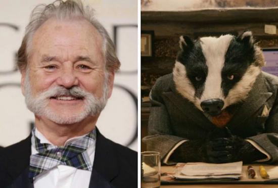 Bill Murray – Badger from Fantastic Mr. Fox