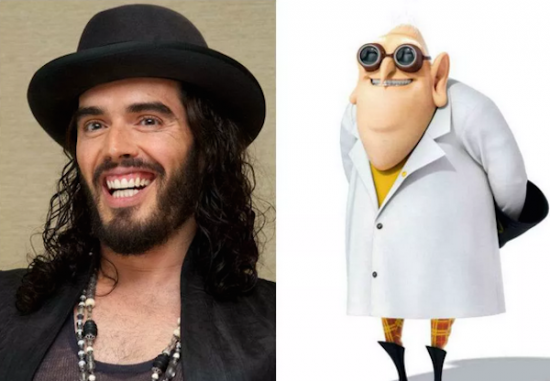 Russell Brand – Dr. Nefario from Despicable Me