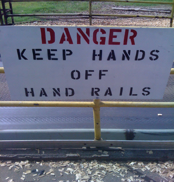 Handrail - Funny Signs - Jokes and Humor